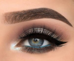 makeup, eyes, and beautiful image