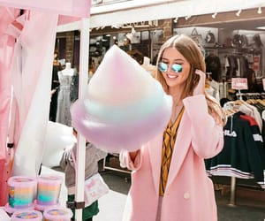 cotton candy, girl, and photo image