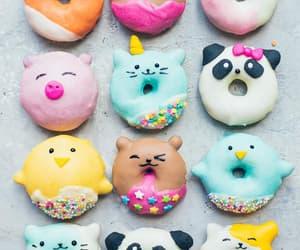 bird, dessert, and donuts image