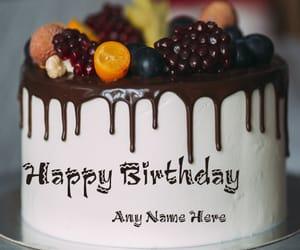 birthday fruit cake image