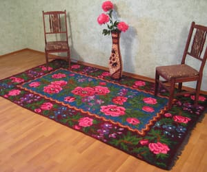 etsy, handmade rugs, and floral rugs image