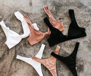 fashion, bikini, and black image