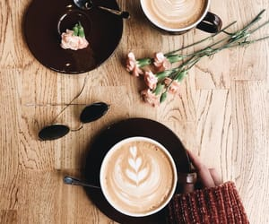aesthetic, carnation, and coffee image