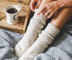 cozy, socks, and autumn image