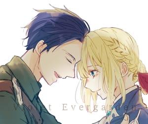 anime, couple, and sad image