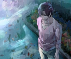 alone, anime, and blue image