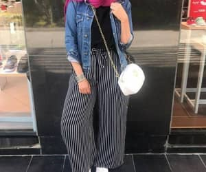 striped pants hijab image