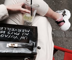 bag, chic, and drinks image