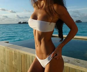 abs, curves, and girl image