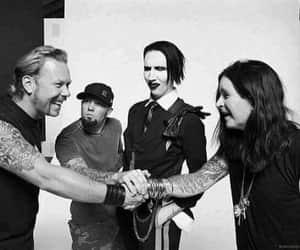 Marilyn Manson, Ozzy Osbourne, and metallica image