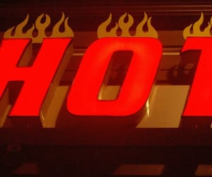 Hot, sign, and theme image