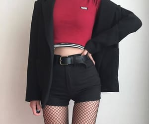 fashion, black, and red image