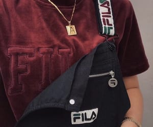Fila, red, and outfit image