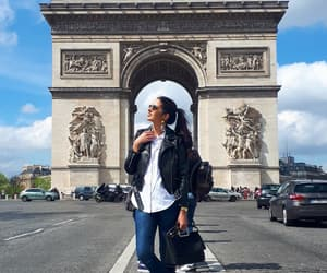 arc de triomphe, sunny day, and zara outfit image