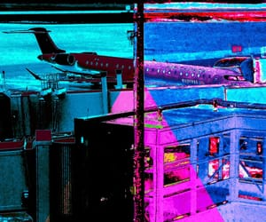 airplane, andy warhol, and colourful image