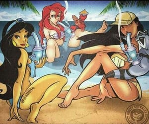 ariel, disney, and drugs image