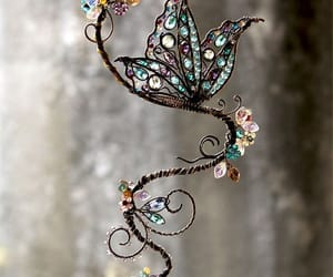 Swarovski, butterfly, and crystal image