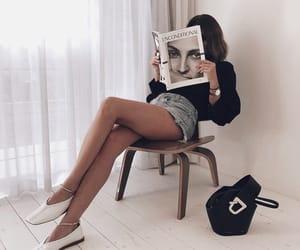 fashion, girl, and magazine image