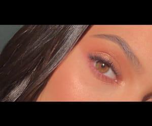 beautiful, brown eyes, and makeup image