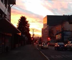city, mood, and morning image