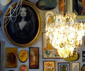 diy chandelier, glam decor, and glam chandelier image