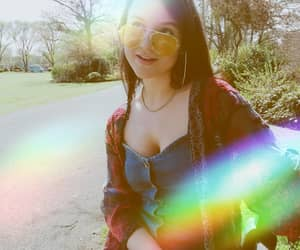 lens flare, rainbow, and tumblr image