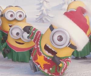 christmas, minions, and gif image