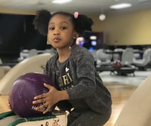 baby, bowling, and cousin image