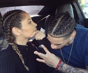 couple, love, and braids image