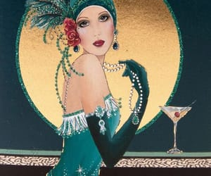 1920s, flapper, and art image