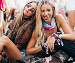music festival, friendship goals, and coachella vibes image