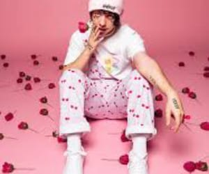 lil xan, pink, and rose image