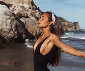 beach, fitness, and blonde image