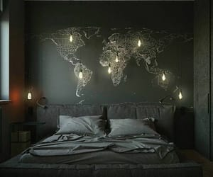 bedroom, home, and map image