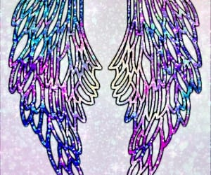 angel, blue, and glitter image