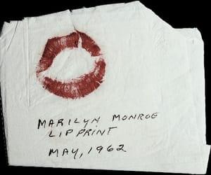 Marilyn Monroe, lips, and kiss image