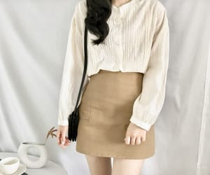 beige, clothes, and korean girl image