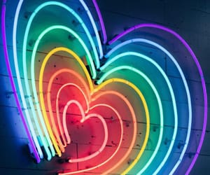 light, colors, and heart image