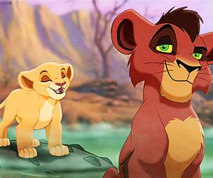 disney, the lion king, and kovu image