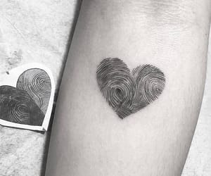 heart, pretty, and tattoo image