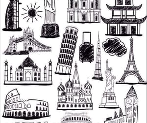 city, draw, and drawing image