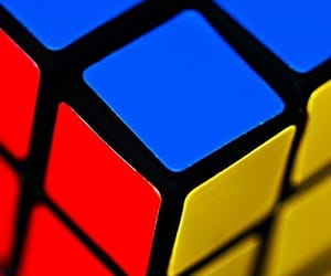 cube and primary colours image
