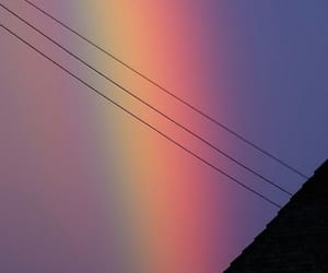 rainbow, wallpaper, and sky image