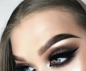 beauty, cateye, and eyebrows image