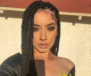 makeup, braids, and hair image