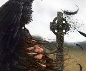 crow, witch, and goddess image
