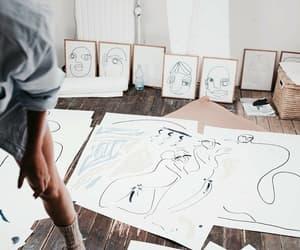 art, bambi, and drawing image