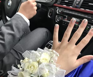 bmw, corsage, and nails image