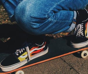 aesthetic, skate, and vans image