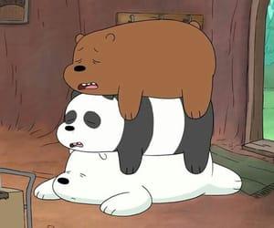 bear, cartoon, and cute image
